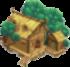 Riverside cabin symbol