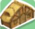 Wooden cabin symbol