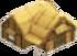 Wooden lodge symbol
