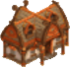 Mountain cabin symbol