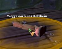 Weggeworfenes Holzbein