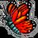 Insekt scharlachroterMonarch