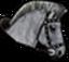 Reittier grauesPferd