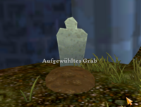 Aufgewühltes Grab