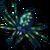 Himmelblauer Arachnamasser