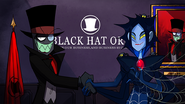 Black Hat shaking hands with a female villain