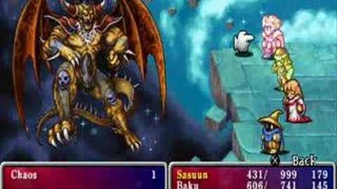 Final fantasy I anniversary edition Final boss , Chaos