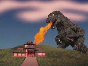 Godzilla Destroys a Geisha's House 0001