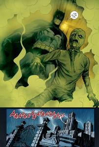 Scarecrow behind Batman