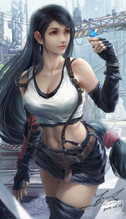 Tifa lockhart final fantasy and 2 more drawn by peng wang 99e77e355ced878678664fa911e02600