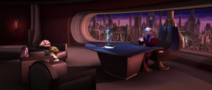 Chancellor Palpatine communicates