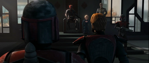 Maul seated