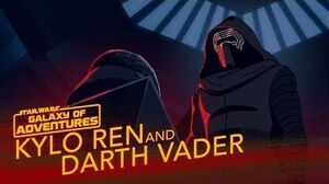 Kylo Ren and Darth Vader - A Legacy of Power Star Wars Galaxy of Adventures