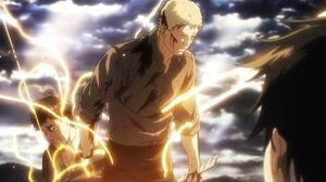 Reiner Bertholdt and Eren Titan Transformation - Attack on Titan Season 2