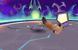 Spyro defeated Spike