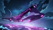 S4E01.2. Galra cruiser hovering over an ocean