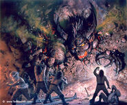 Ted Nasmith - The Dwarves Delve Too Deep