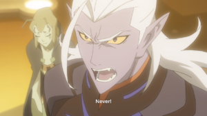 Lotor refuses to destroy the planet