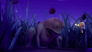 Rib-It accidentally eat the mushroom whille he captures Maya