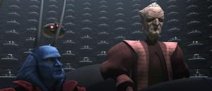 Chancellor Palpatine glare