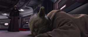 Sidious hovers