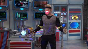 Drex transforming into Captain Drex