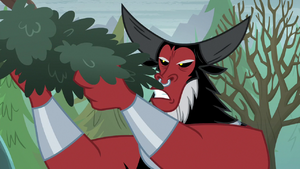 Lord Tirek gathering tree leaves S9E8