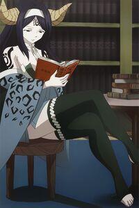 Sayla reading a book