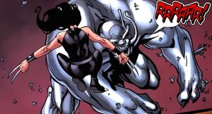 Laura Kinney (Earth-616) and Predator X from New X-Men Vol 2 20 0002