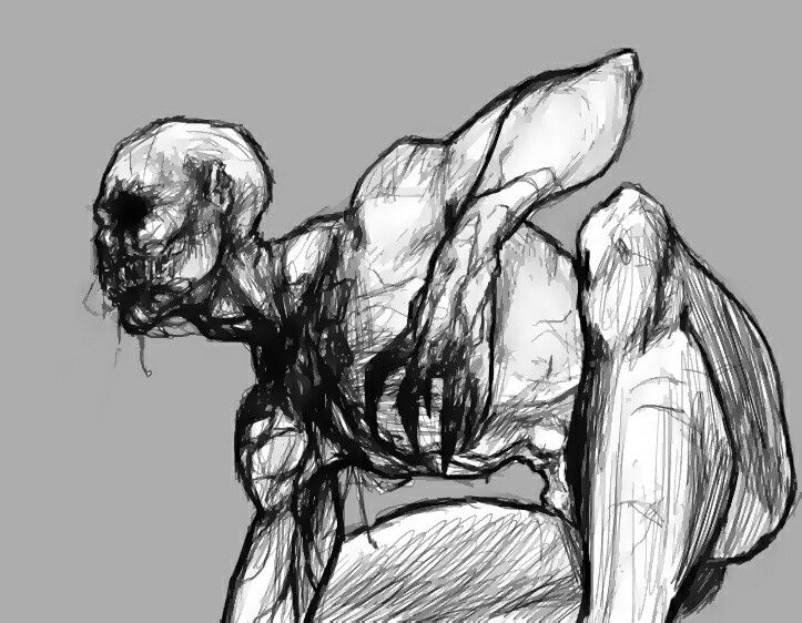 Line Drawing Wiki : Image f e a db bbede creepy drawings