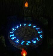 Chamber diorama in dark