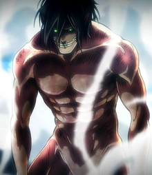 Eren appears as a Titan