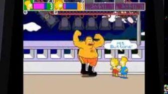 The Simpsons Arcade Boss Battle The Wrestler