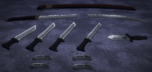 Stains weapons