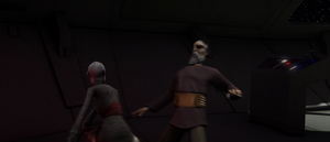 Count Dooku leans