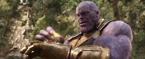 Thanos completes the infinity gauntlet