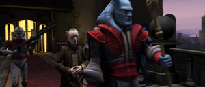 Chancellor Palpatine escorted
