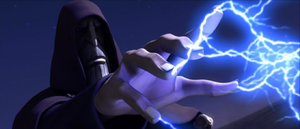 Count Dooku desert lightning