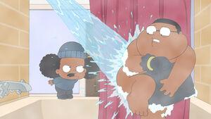Rallo Invades Junior in the Shower