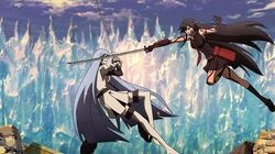 Esdeath vs Akame English dub