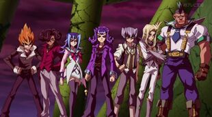 Seven Barian Emperors in their human forms