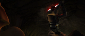 Darth Maul weilds