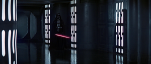 Darth Vader confronts