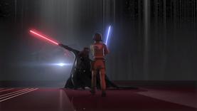 Vader lands