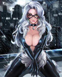 Black Cat Rain HD