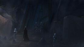 Darth Vader looms