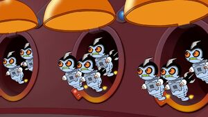 Mitch's robotic minions