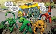 Savage Six (Kraven's) (Earth-616) ,Adrian Toomes (Earth-616) Vincent Stegron (Earth-616), Aleksei Sytsevich (Earth-616) ,Anton Miguel Rodriquez (Earth-616) and MacDonald Gargan (Earth-616) from Amazing Mary Jane Vol 1 5 0001