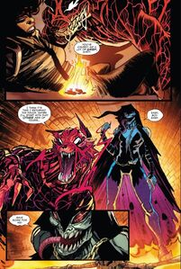 Demogoblin (Earth-616), John Jonah Jameson III (Earth-616) and Mercedes Knight (Earth-616) from Absolute Carnage Lethal Protectors Vol 1 2 001