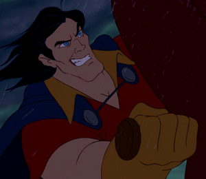 Gaston grinning evilly